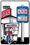 Arm and a Leg Tin Sign