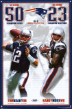 Tom Brady and Randy Moss- Broken Records Poster