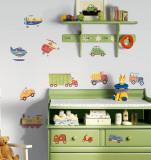 Mezzi di trasporto (sticker murale) Decalcomania da muro