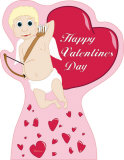 Valentine's Day - Cupid with Hearts Lifesize Standup Cardboard Cutouts