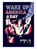 Wake Up America Day Art by James Montgomery Flagg