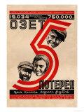 OZET No. 5, Birobidjan Lottery Prints by Hail O. Dlugach