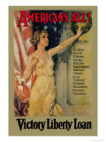 Americans All! Victory Liberty Loan Láminas por Howard Chandler Christy