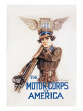 The Motor-Corps of America Láminas por Howard Chandler Christy