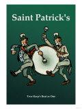 Saint Patrick, Two Harps Beat as One Plakaty