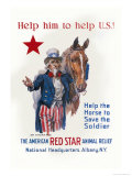 Help Him to Help U.S. Láminas por Flagg, James Montgomery