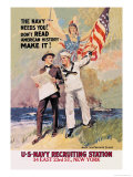 The Navy Needs You Print by James Montgomery Flagg