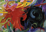 Fighting Forms Posters por Franz Marc