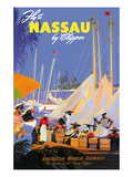 Fly to Nassau by Clipper Posters by  Von Arenburg