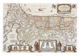 The Promised Land for the Sons of Israel, c.1663 Prints by Nicholas Visscher