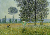Field in Spring Print by Claude Monet