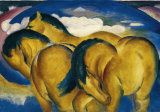 Little Yellow Horse, c.1912 Posters by Franz Marc