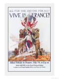 Vive La France! Premium Giclee Print by James Montgomery Flagg