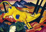 Golden Cow Print by Franz Marc