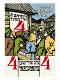 Jewish Folks Party, Vote for Ticket No. 4 Premium Giclee Print by Solomon Yudovin