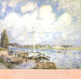 Boats of the Seine Prints by Alfred Sisley