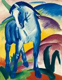Blå häst I Affischer av Franz Marc