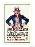 I Am Telling You Posters by James Montgomery Flagg