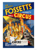 Sir Robert Fossett's Mammoth Jungle Circus Posters