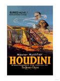 The Literary Digest: Houdini Buried Alive - Art Print