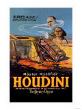 The Literary Digest: Houdini Buried Alive Art