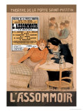 L&#39;Assommoir, c.1900 Poster by Th&#233;ophile Alexandre Steinlen