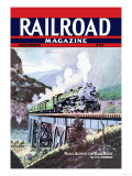 Railroad Magazine: Rails Across the Blue Ridge, 1943 Poster