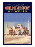 Outline of History by H.G. Wells, No. 13: Mosque Poster
