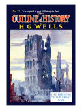 Outline of History by H.G. Wells, No. 22: The Brewing of the Great War Posters