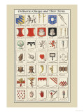 Ordinaries, Charges and their Terms Posters by Hugh Clark