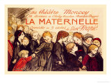 La Maternelle: Comedie en 3 Actes, c.1920 Prints by Th&#233;ophile Alexandre Steinlen