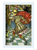 The Yellow Dwarf, Battle, c.1878 Print by Walter Crane