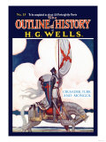Outline of History by H.G. Wells, No. 15: Crusader, Turk and Mongol Premium Giclee Print