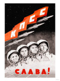 Glory to the Russian Cosmonauts Premium Giclee Print