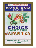 Rose Bud Brand Tea Poster