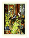 Princess Bell-Etoile, Tempted by Teintise, c.1878 Prints by Walter Crane