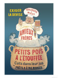 Amieux Freres, Petits Pois a l'Etouffee Plakater af Eugene Oge
