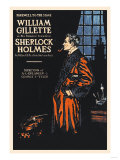 William Gillette as Sherlock Holmes: Farewell to the Stage Giclee-tryk i høj kvalitet