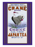 Crane Brand Tea Poster