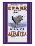 Crane Brand Tea Poster