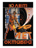 Ten Years of October Revolution Poster