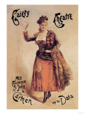 Gaiety Theatre: Miss Florence St. John in Carmen up to Data Poster