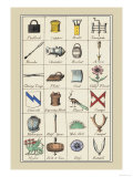 Heraldic Symbols: Padlock and Copper Posters by Hugh Clark