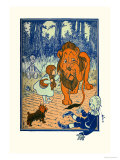 The Cowardly Lion Lminas por William W. Denslow