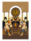 Two Pastry Cooks Premium Giclee Print by Maxfield Parrish