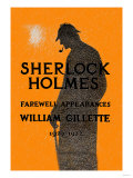 William Gillette as Sherlock Holmes: Farewell Appearance Posters