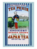 Tea Picker Brand Kunstdruck
