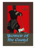 Gilbert & Sullivan: The Yeomen of the Guard (The Executioner) Pósters por Dudley Hardy
