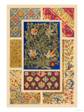 Medieval Design with Flowers Poster by Racinet