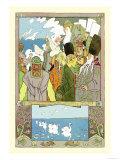 Swans Poster by Ivan Bilibin